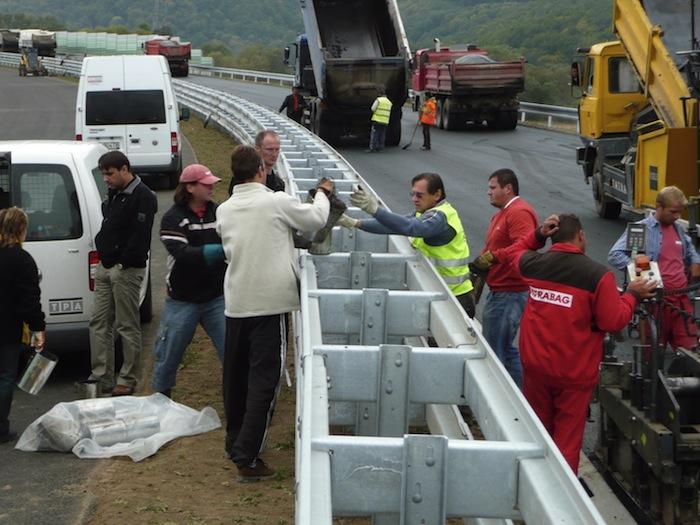 Hromadný odber vzoriek účastníkmi programu pre skúšky asfaltovej zmesi